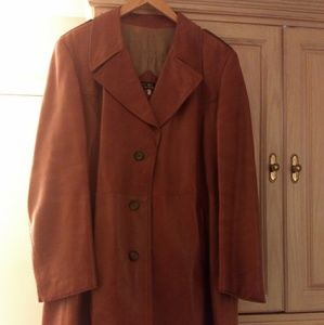 Jackets & Blazers - Leather trench coat